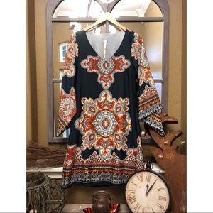Dresses & Skirts - Uncle Frank flared sleeved boho style dress